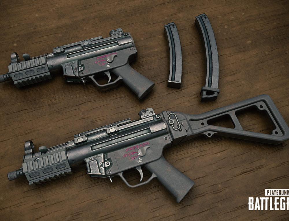 Пистолет-пулемет MP5K в PUBG