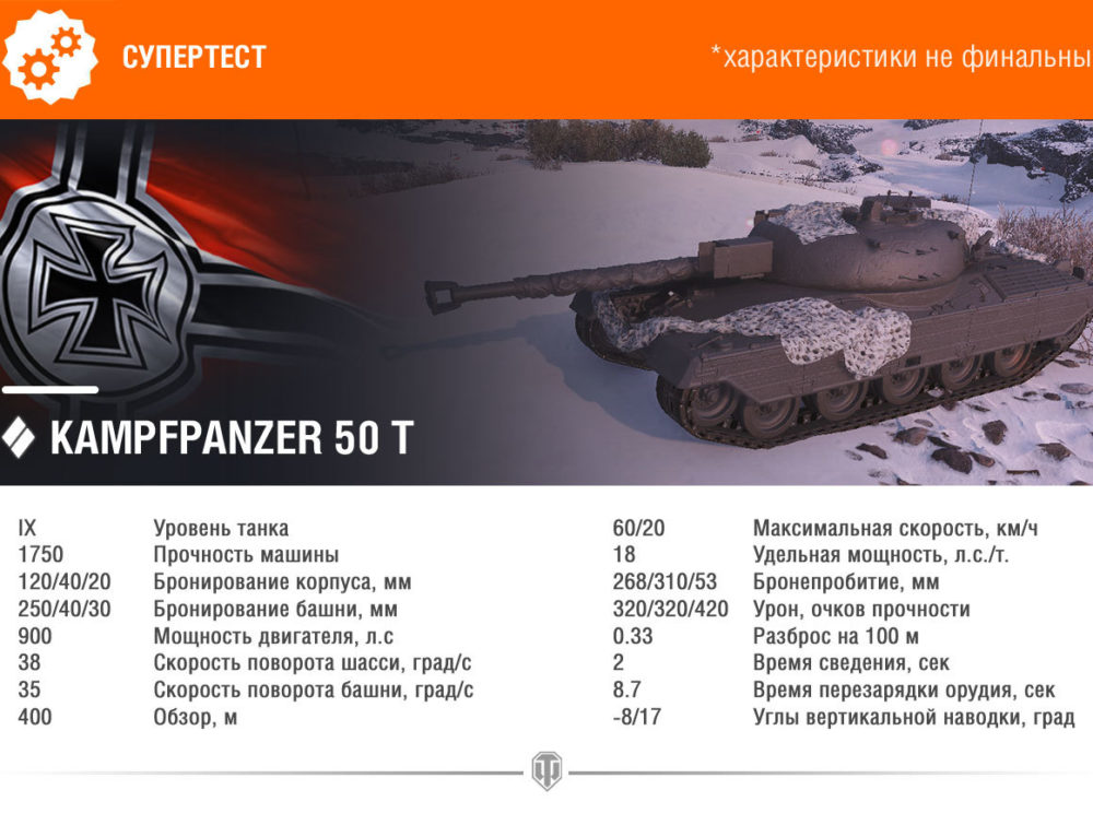 Kampfpanzer 50 t — World of Tanks