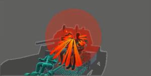 Взрыв каморного снаряда внутри боевого отделения