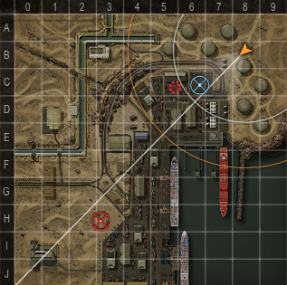 Индикатор осветительного снаряда