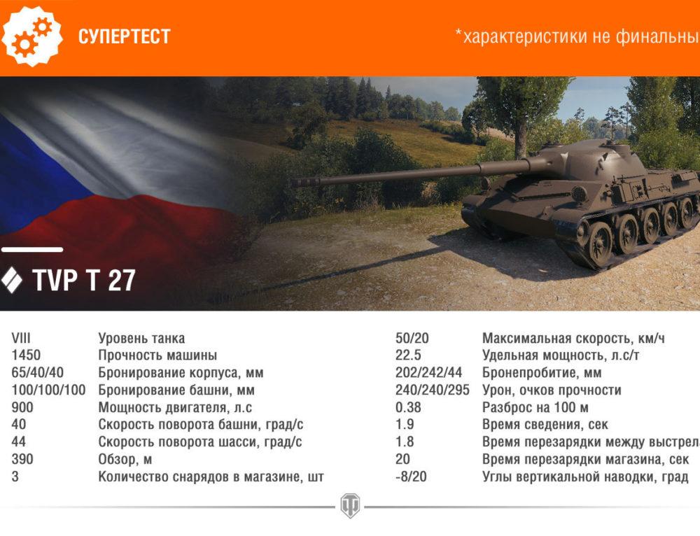 TVP T 27 — чешский премиум танк VIII уровня